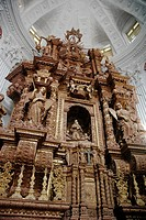 Old Goa Goa, India, the baroque altar of the St  Cajetan church