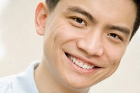 Portrait of a male office worker smiling