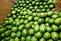 Heap of watermelons, Zhigou, Shandong Province, China