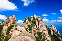 Low angle view of a mountain, Huangshan Mountains, Anhui Province, China