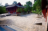 Courtyard of a temple, Songyang Academy, Shaolin Monastery, Henan Province, China