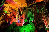 Interiors of a cave, Xingping, Yangshuo, Guangxi Region, China