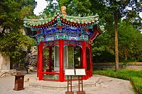 Gazebo in a park, Beihai Park, Beijing, China