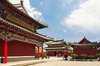 Low angle view of pagodas, Five Pagoda Temple, Hohhot, Inner Mongolia, China