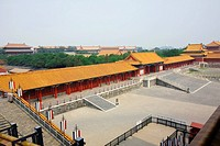 High angle view of a palace, Forbidden City, Beijing, China