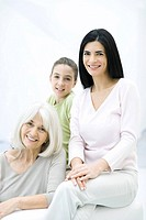 Three generations of women, portrait