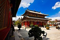 Low angle view of a pagoda, Five Pagoda Temple, Hohhot, Inner Mongolia, China