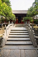Facade of a temple, Songyang Academy, Shaolin Monastery, Mt Song, Henan Province, China