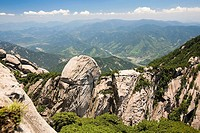 High angle view of mountains, Huangshan Mountains, Anhui Province, China
