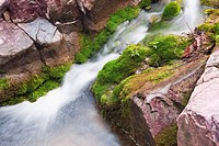 High angle view of a stream flowing through rocks, Mt Yuntai, Jiaozuo, Henan Province, China