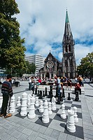 New Zealand _ South Island _ Canterbury _ the Cathedral Square _ Christchurch