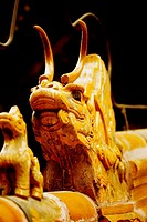 Close_up of statue of a Chinese dragon, Tower Of Buddhist Incense, Summer Palace, Beijing, China