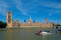 England - London - Westminster district - Big Ben and Houses of Parliament (thumbnail)