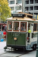 New Zealand _ South Island _ Canterbury _ Christchurch _ the Cathedral Square_Tram