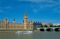 England _ London _ District Westminster _ Big Ben and Houses of Parliament
