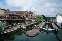 England _ London _ Camden Town district _ Camden Town and Camden Market Lock