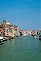 Italy _ Venice _ view of the Gran Canal _ activity _ palazzi _ waterway