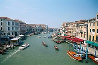 Italy _ Venice _ water traffic on the Grand Canal