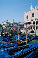 Italy _ Venice _ St Mark's square _ The Doge's Palace _ Venitian gondolas