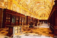 Spain _ Madrid _ neighbourhood _ Royal Monastery of San Lorenzo El real _ Library