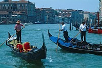Italy _ Venice _ Gondoliers