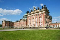 Facade of palace, New Palace, Sanssouci Park, Potsdam, Brandenburg, Germany