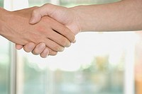 Close_up of two people shaking hands
