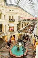 Interiors of department store, Gum Shopping Centre, Red Square, Moscow, Russia