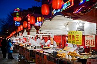 China _ Beijing PÚkin _ Centre _ Wangfujing Street _ Donghuamen night market _ Street restaurants