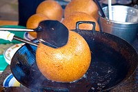 Vietnam _ The South _ The Delta of Mekong _ Ben Luc _ Gastronomy _ Puffed rice ball