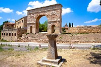 Spain _ Castile and Leon _ Province of Soria _ Medinaceli _ Roman arch