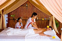 Vietnam _ The South _ The Delta of Mekong _ Chau Doc _ Victoria Chau Doc Hotel _ Essential oils massage