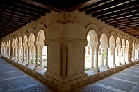 Spain _ Castile and Leon _ Burgos _ Monastery of Santa Maria la Real de las Huelgas _ Courtyard