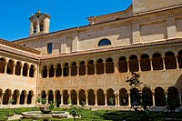 Spain _ Castile and Leon _ Province of Burgos _ Santo Domingo de Silos _ Courtyard of the monastery of Silos