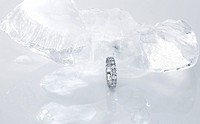ring with diamonds and ice