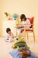 little girls reading a book, pyjama