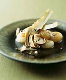 Caponatina invernale Sweet & sour artichokes & mushrooms