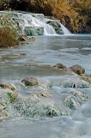 italy, tuscany, saturnia, sulphureous water, gorello falls