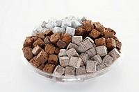 Brownie Bite Tray, Three Types of Brownies