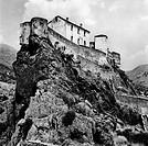 europa, francia, corsica, corte, veduta della fortezza, 1965