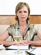 Businesswoman in restaurant portrait