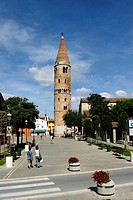 belltower of saint stephen protomartyr church, caorle, veneto, italy