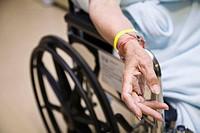 Elderly patient in wheelchair