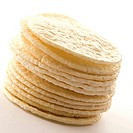 Close_up of a stack of tortilla