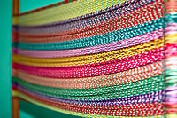 Close-up of multi-colored threads, Izamal, Yucatan, Mexico (thumbnail)