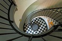 Spiral stairs in Ponce Inlet Lighthouse, Daytona Beach, Florida, USA