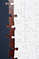 Gray and White Jigsaw Pieces