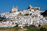Nuestra Señora de la Encarnacion church and castle, Olvera. Cadiz province, Andalucia, Spain