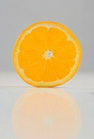 Round slice of an orange
