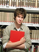 Portrait of young man with book (thumbnail)